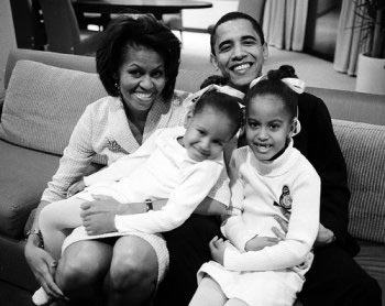 Barack Obama and His Children